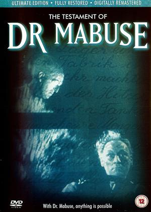 Rent The Testament of Doctor Mabuse (aka Das Testament des Dr. Mabuse) Online DVD Rental