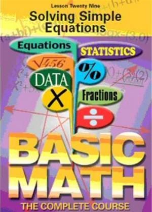 Basic Maths: Solving Simple Equations Online DVD Rental