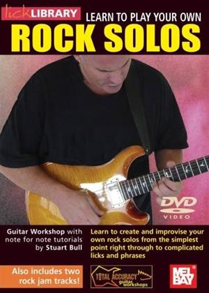 Rent Lick Library: Learn to Play Your Own Rock Solos Online DVD Rental