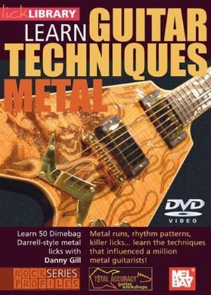 Rent Dimebag Darrel Guitar Techniques Online DVD Rental