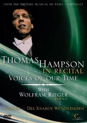 Thomas Hampson in Recital: Voices of Our Time Online DVD Rental