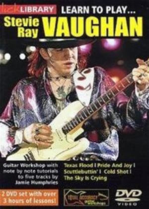 Rent Lick Library: Learn to Play Stevie Ray Vaughan Online DVD Rental