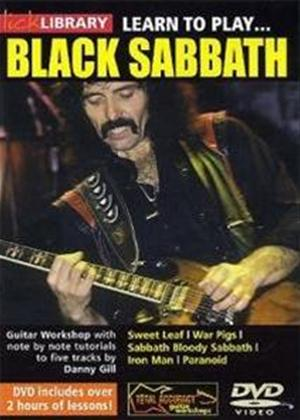 Rent Lick Library: Learn to Play Black Sabbath Online DVD Rental