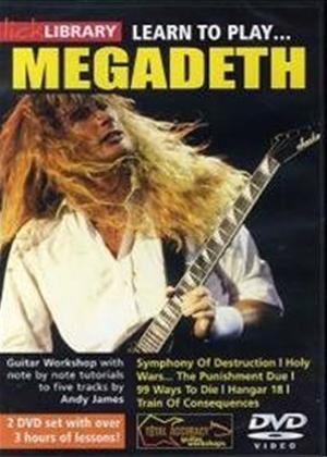 Rent Lick Library: Learn to Play Megadeth Online DVD Rental