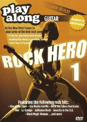 Rent Playalong Learn to Play Guitar: Rock Hero 1 Online DVD Rental