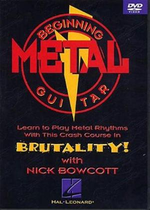 Rent Beginning Metal Rhythm Guitar Online DVD Rental