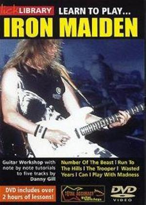 Rent Lick Library: Learn to Play Iron Maiden Online DVD Rental