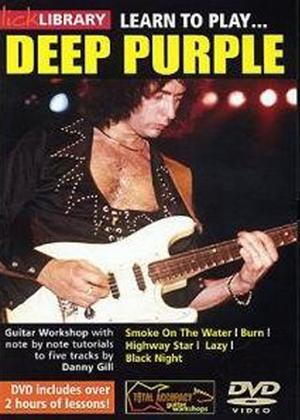 Rent Lick Library: Learn to Play Deep Purple Online DVD Rental