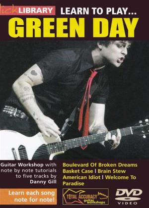 Rent Lick Library: Learn to Play Green Day Online DVD Rental