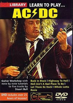 Rent Lick Library: Learn to Play AC/DC Online DVD Rental