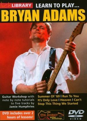 Rent Learn to Play: Bryan Adams Online DVD Rental
