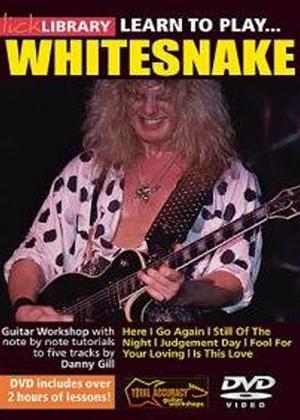 Rent Lick Library: Learn to Play Whitesnake Online DVD Rental