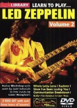 Learn to Play: Led Zeppelin: Vol.2 Online DVD Rental