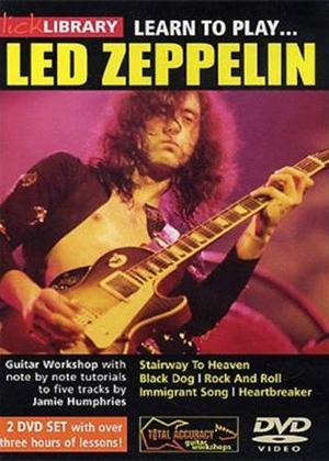 Lick Library: Learn to Play Led Zeppelin Online DVD Rental