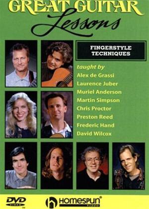 Rent Great Guitar Lessons: Fingerstyle Techniques Online DVD Rental