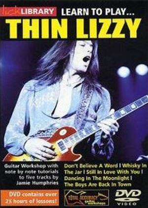Rent Lick Library: Learn to Play Thin Lizzy Online DVD Rental