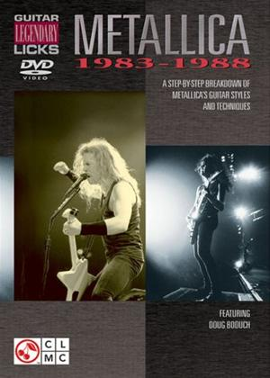 Rent Legendary Guitar Licks: Metallica 1983-88 Online DVD Rental