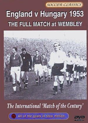 England Vs Hungary 1953 Online DVD Rental