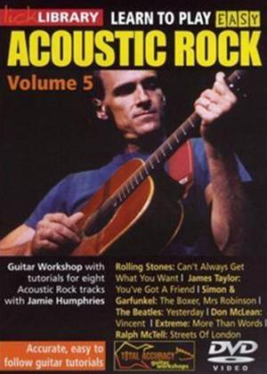 Rent Lick Library: Learn to Play Easy Acoustic Rock: Vol.5 Online DVD Rental