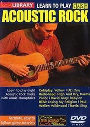 Rent Lick Library: Learn to Play Easy Acoustic Rock Online DVD Rental