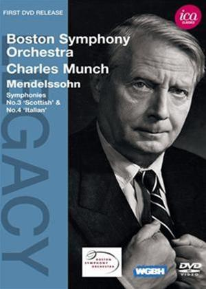 Rent Charles Munch: Mendelssohn Symphonies Nos. 3 and 4 Online DVD Rental