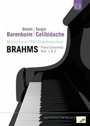 Rent Barenboim: Brahms Piano Concertos Nos. 1 and 2 (Celibidache) Online DVD Rental
