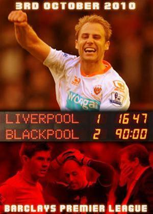 Liverpool 1 Blackpool 2: Barclays Premier League 03.10.10 Online DVD Rental