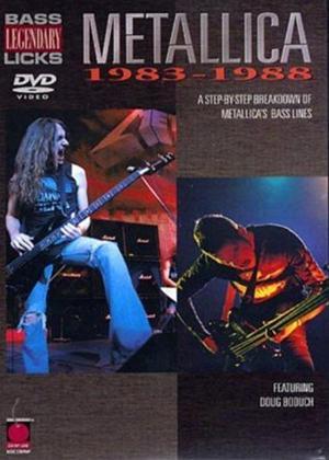 Rent Legendary Bass Licks: Metallica 1983-88 Online DVD Rental