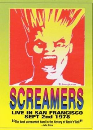 The Screamers: Live in San Francisco: September 2nd 1978 Online DVD Rental