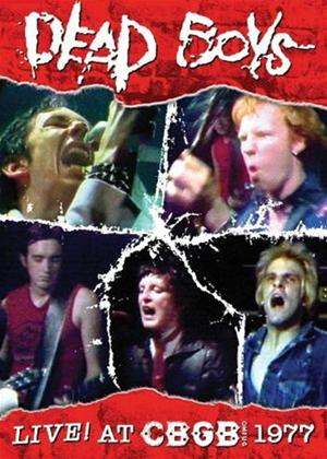 The Dead Boys: Live! at CBGB's 1977 Online DVD Rental