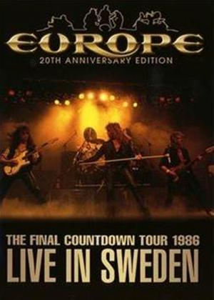 Rent Europe: Live in Sweden 1986 Online DVD Rental