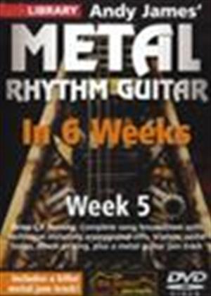 Rent Andy James' Metal Rhythm Guitar in 6 Weeks: Week 5 Online DVD Rental