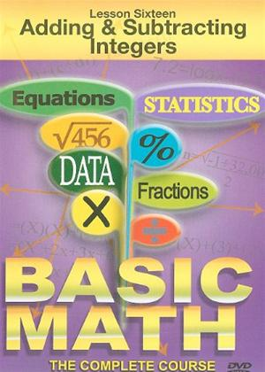 Basic Maths: Adding and Subtracting Integers Online DVD Rental