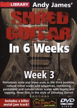 Rent Andy James' Shred Guitar in 6 Weeks: Week 3 Online DVD Rental