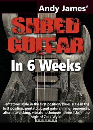Andy James' Shred Guitar in 6 Weeks Online DVD Rental
