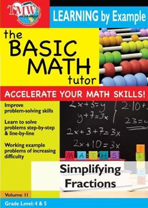 The Basic Math Tutor: Simplifying Fractions Online DVD Rental