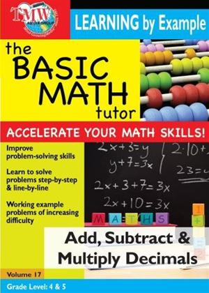 The Basic Math Tutor: Add, Subtract and Multiply Decimals Online DVD Rental