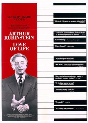 Rent Arthur Rubinstein: The Love of Life (aka L'amour de la vie - Artur Rubinstein) Online DVD Rental