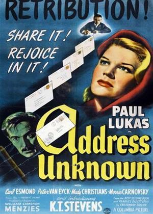 Address Unknown Online DVD Rental