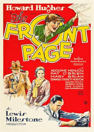Rent The Front Page Online DVD Rental
