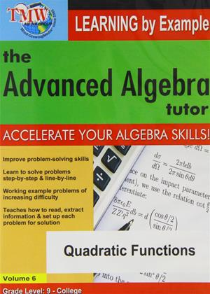 The Advanced Algebra Tutor: Quadratic Functions Online DVD Rental