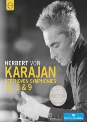 Rent Herbert Von Karajan: Beethoven Symphonies Nos. 5 and 9 Online DVD Rental