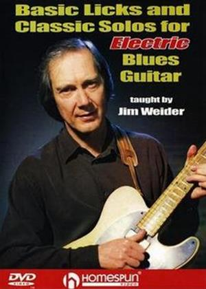 Rent Jim Weider: Basic Licks and Classic Solos for Electric Blues Guitar Online DVD Rental