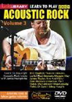 Rent Lick Library: Learn to Play Easy Acoustic Rock: Vol.3 Online DVD Rental