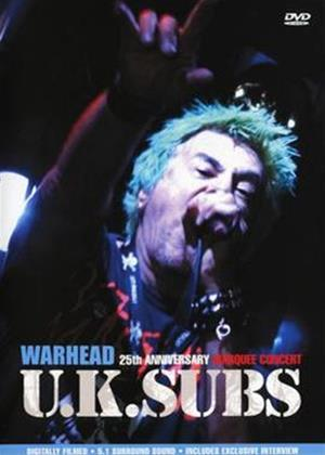 Rent UK Subs: Warhead: 25th Anniversary Marquee Concert Online DVD Rental