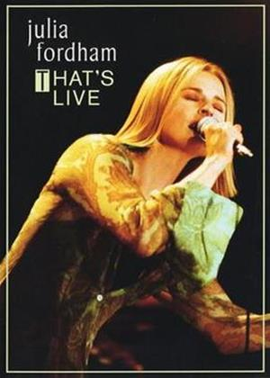 Rent Julia Fordham: That's Live Online DVD Rental