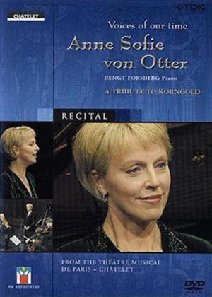 Rent Anne Sofie Von Otter: Voices of Our Time Online DVD Rental