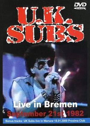 UK Subs: Live in Bremen Online DVD Rental