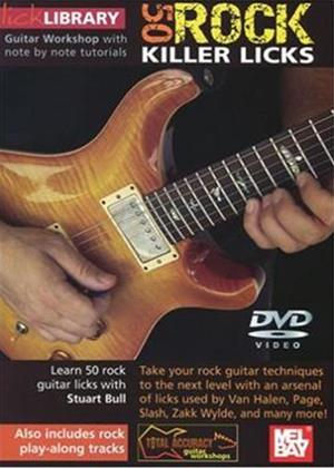 Rent Lick Library: 50 Killer Rock Licks Online DVD Rental
