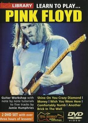 Rent Lick Library: Learn to Play Pink Floyd Online DVD Rental